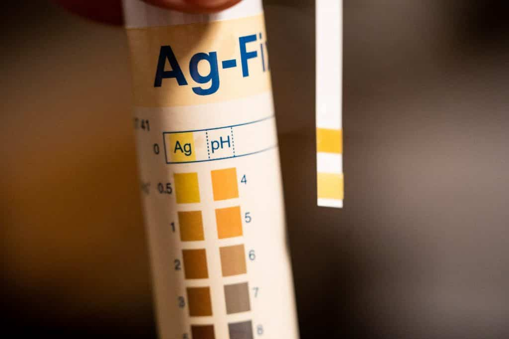 Silver AG test strips for monitoring silver levels in fixer