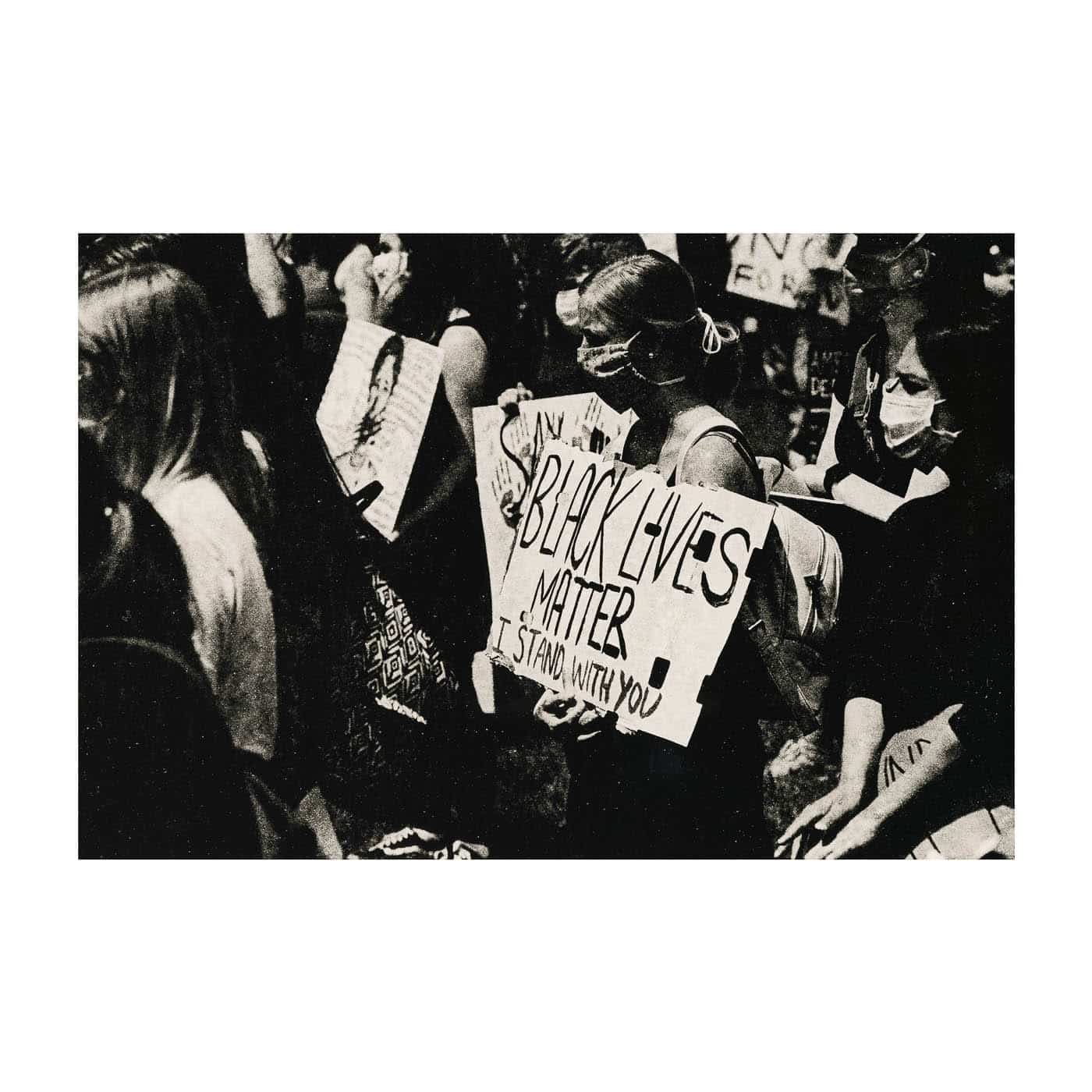Black lives matter protests 2020. Lith print on Ilford MGWT Fiber Based Paper